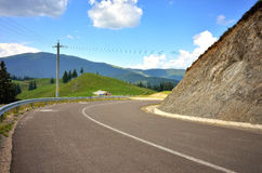 Asphalt road in the mountain Stock Photo