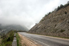 Asphalt road in the mountains. Crimea Royalty Free Stock Images
