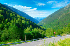 Asphalt road in mountains Royalty Free Stock Photo