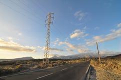 Asphalt Road nel deserto Fotografie Stock