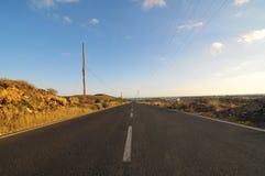 Asphalt Road nel deserto Fotografia Stock