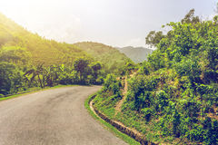 Asphalt road in Nepal Royalty Free Stock Photography