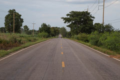 Asphalt road. Asphalt road in the northeast of Thailand Stock Photography