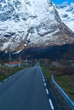 Asphalt road in Norvegian mountains Stock Image