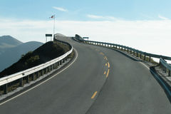 Asphalt road in Norway Stock Photography