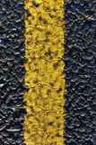 Asphalt road and painted yellow line Royalty Free Stock Photography
