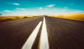 Asphalt road in perth. Asphalt road on Westen Australia. motion blur speed effect stock photos