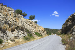 Asphalt road in the picturesque mountains. Stock Photography