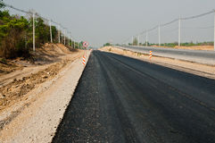Asphalt road rebuilding Royalty Free Stock Images