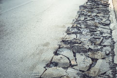 Asphalt road repair Royalty Free Stock Images