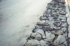 Asphalt road repair Royalty Free Stock Images