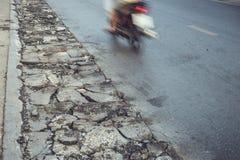 Asphalt road repair Stock Image