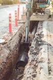 Asphalt road repair Royalty Free Stock Photo