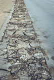 Asphalt road repair Royalty Free Stock Photos