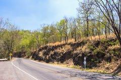 Asphalt road in rural autumn landscape Royalty Free Stock Photography