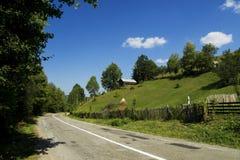 Asphalt road. In sinaia mountains Royalty Free Stock Image