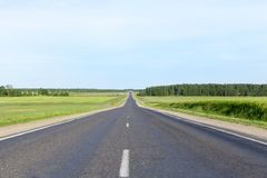 Asphalt road Royalty Free Stock Image