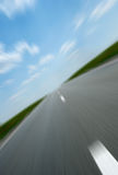 Asphalt road speed Stock Images