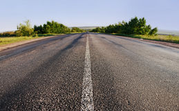 Asphalt road in summer day Royalty Free Stock Photography
