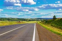 Asphalt road in the summer Stock Images