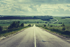 Asphalt road. Summer travel concept Royalty Free Stock Photography