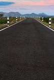 Asphalt road with sunlight Royalty Free Stock Image