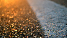 Asphalt road and sunset Royalty Free Stock Photo