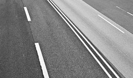 Asphalt road texture. At the highway Royalty Free Stock Image