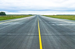 Asphalt road texture strip airport runway. View Royalty Free Stock Images