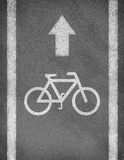 Asphalt road texture with two line and bicycle Royalty Free Stock Photos