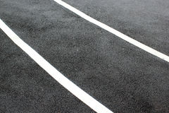 Asphalt road texture with white line Royalty Free Stock Images