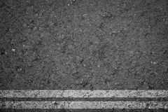 Asphalt Road texture with white strip Stock Images