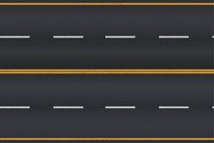 Asphalt road texture with white stripes. Stock Image