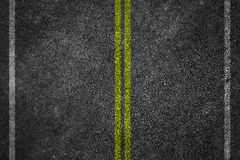Asphalt Road Texture. Asphalt Road Texture with White Stripes and yellow Stock Photo
