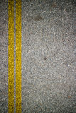 Asphalt Road Texture With Yellow Strip. Royalty Free Stock Photos