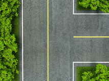 Asphalt road texture,yellow and white line on road Royalty Free Stock Photo