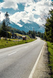 Asphalt road to the High Tatras Royalty Free Stock Images