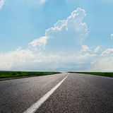 Asphalt road to horizon Royalty Free Stock Photo