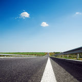 Asphalt road to horizon Stock Image