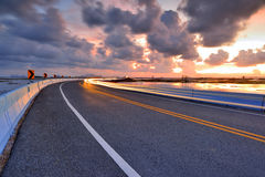 Road at twilight Royalty Free Stock Photo