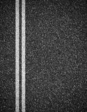 Asphalt road top view background Stock Images