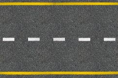 Asphalt road top view Royalty Free Stock Images