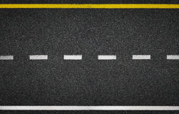 Asphalt road top view. Highway line marks. Asphalt highway road marks top view royalty free stock photography
