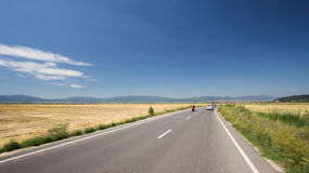 Asphalt road with traffic Royalty Free Stock Photos