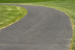 Asphalt road turn Royalty Free Stock Images