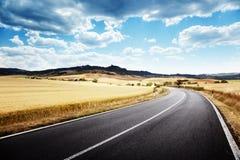 Asphalt road in Tuscany Italy Stock Image