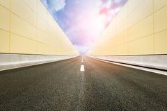 Asphalt road under the blue sky at sunset. Brand new Asphalt road under the blue sky at sunset Stock Images
