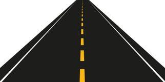 Asphalt road on a white background. Vector illustration EPS10 stock illustration