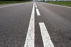 Asphalt road. With white lines Stock Photography