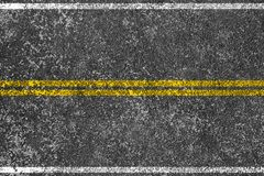 Asphalt road with yellow line Royalty Free Stock Photos
